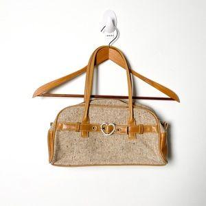 Vintage Tan Baguette Shoulder Y2K Purse Bag